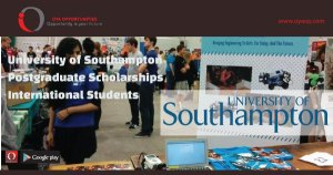 University of Southampton Postgraduate Scholarships for International Students