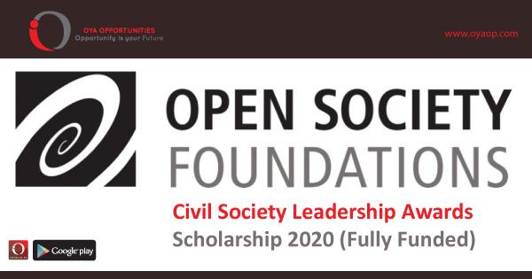 Civil Society Leadership Awards Scholarship 2020 (Fully Funded)