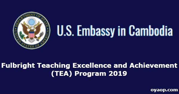Fulbright Teaching Excellence and Achievement (TEA) Program 2019