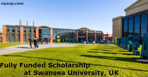 Fully Funded Scholarship at Swansea University, UK