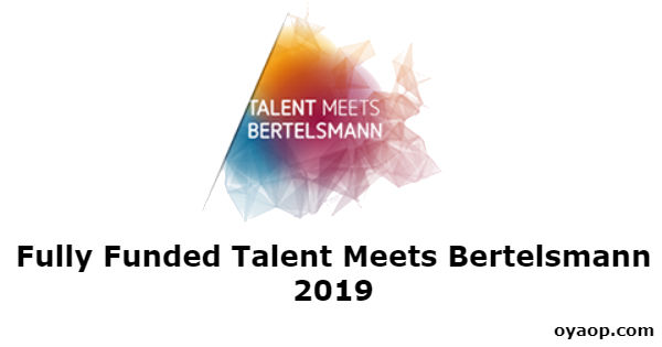 Fully Funded Talent Meets Bertelsmann 2019