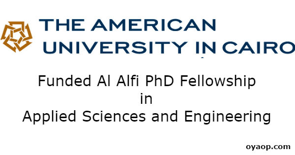 Funded Al Alfi PhD Fellowship in Applied Sciences and Engineering