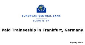 Paid Traineeship in Frankfurt, Germany