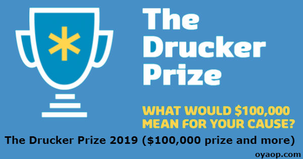The Drucker Prize 2019 ($100,000 prize and more)