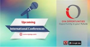 Upcoming International Conferences 2019
