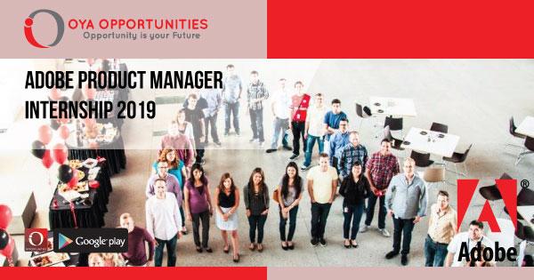 Adobe Product Manager Internship 2019