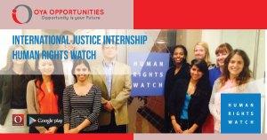 International Justice Internship at Human Rights Watch