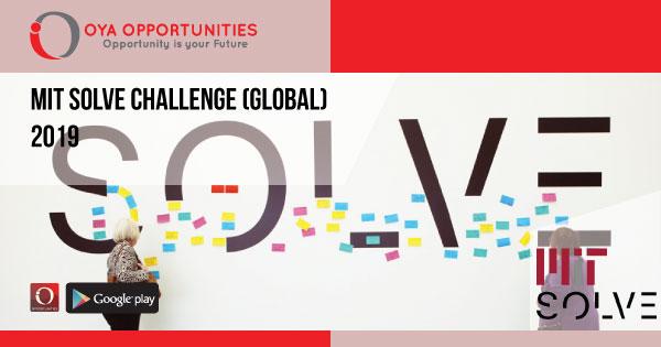 MIT Solve Challenge (Global) 2019