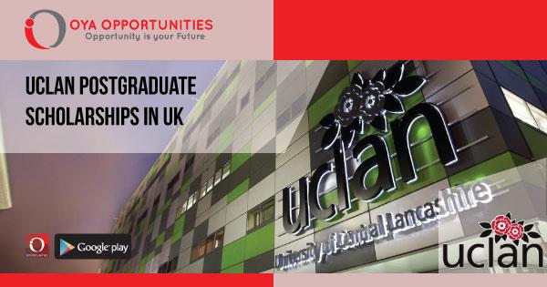 UCLAN Postgraduate Scholarships in UK