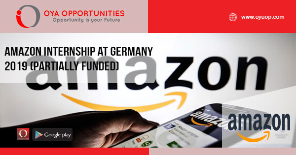 Amazon Internship at Germany 2019 (Partially Funded)
