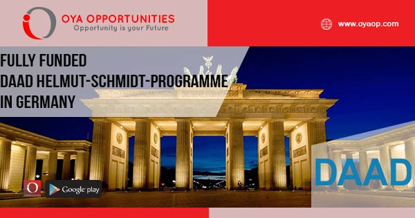 Fully Funded DAAD Helmut-Schmidt-Programme in Germany