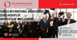 Funded International Ambassador Scholarships by University of West London