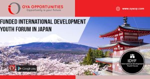 Funded International Development Youth Forum in Japan