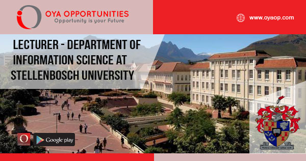 Lecturer - Department of Information Science at Stellenbosch