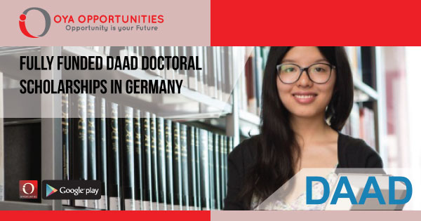 Fully Funded DAAD Doctoral Scholarships in Germany