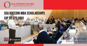 SDA Bocconi MBA Scholarships (Up to $25,000)