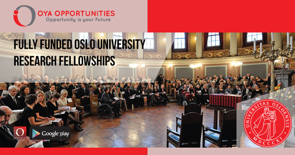 Fully Funded Oslo University Research Fellowships