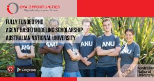 Fully Funded PhD in Agent Based Modeling Scholarship (ANU)