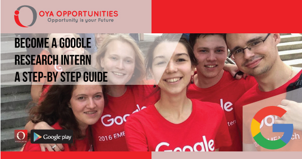 A step by step approach on how to become a google research intern