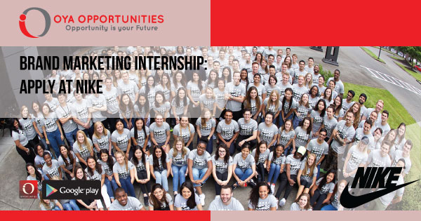 Brand Marketing Internship | Apply at Nike