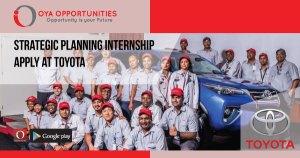 Strategic Planning Internship | Apply at Toyota