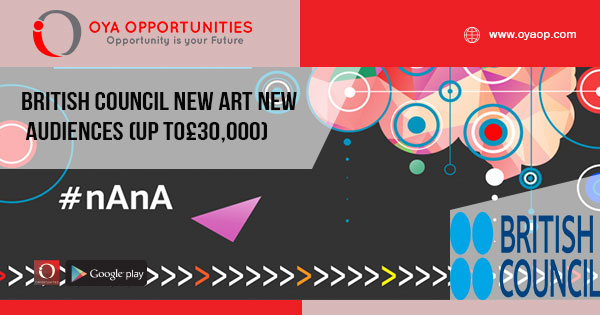 British Council New Art New Audiences (up to£30,000)