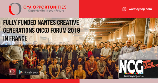 Fully Funded Nantes Creative Generations (NCG) Forum 2019 in France