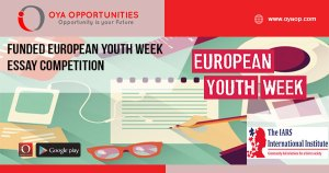 Funded European Youth Week Essay Competition