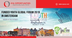 Funded Youth Global Forum 2019 in Amsterdam