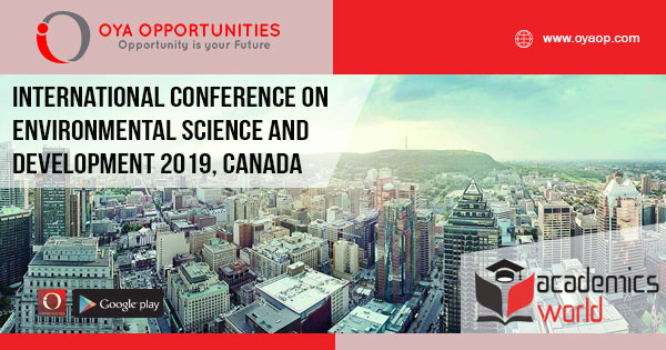 International Conference on Environmental Science and Development 2019, Canada