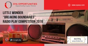 "Little Wonder ""Breaking Boundaries"" Radio Play Competition 2019"