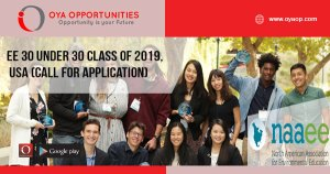 EE 30 Under 30 Class of 2019, USA (Call for Application)