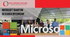 Microsoft Quantum Research Internship