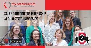Sales Coordinator Internship at Ohio State University