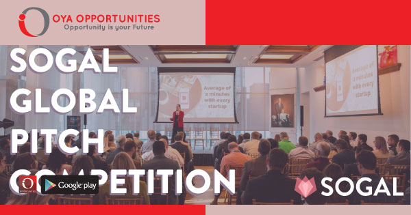 SoGal Global Pitch Competition (win up to $500,000)