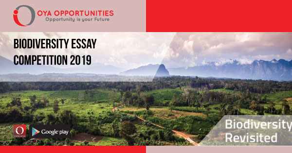 biodiversity essay competition    oya opportunities  oya  page header