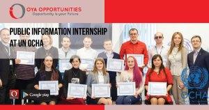 Public Information Internship at UN OCHA
