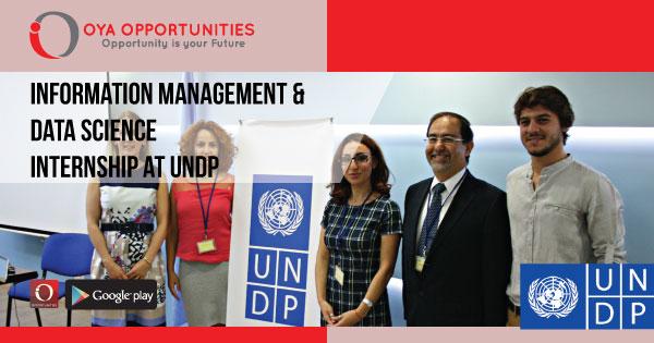 Information Management & Data Science Internship at UNDP | OYA