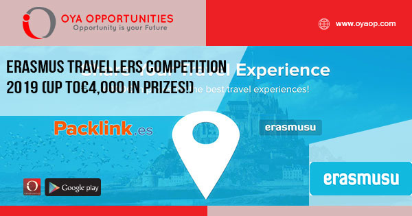 Erasmus Travelers Experience Competition 2019 (up to€4,000 in prizes!)