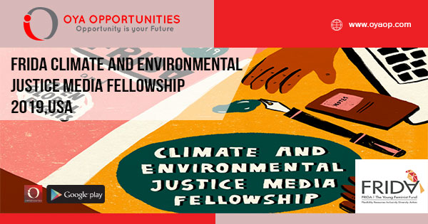 FRIDA Climate and Environmental Justice Media Fellowship 2019,USA