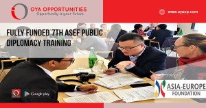Fully Funded 7th ASEF Public Diplomacy Training
