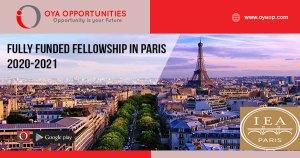 Fully Funded Fellowship in Paris 2020-2021