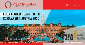 Fully Funded Helmut Veith Scholarship, Austria 2020