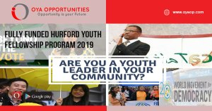 Fully Funded Hurford Youth Fellowship Program 2019