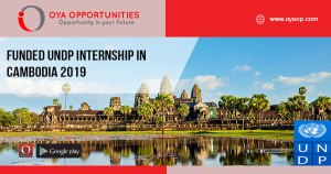 Funded UNDP Internship in Cambodia 2019