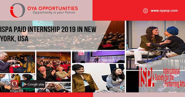ISPA Paid Internship 2019 In New York, USA