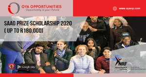 SAAO Prize Scholarship 2020 ( up to R180,000)