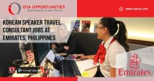 Korean Speaker Travel Consultant jobs at Emirates, Philippines