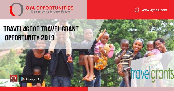 Travel4Good Travel Grant Opportunity 2019