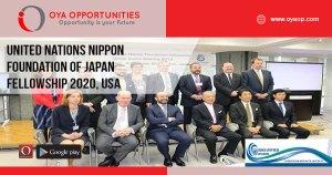 United Nations Nippon Foundation of Japan Fellowship 2020, USA